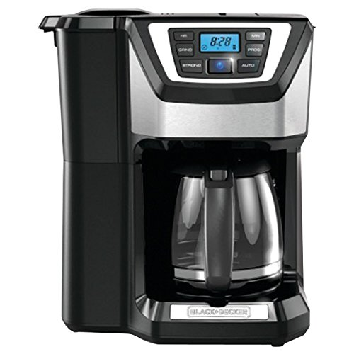 Black & Decker CM5000B 12-Cup Mill and Brew Coffeemaker, Black