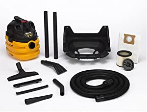 Shop-Vac 5872500 5-Gallon, 5.5-Peak HP Heavy Duty Portable Wet/Dry Vacuum with Wall Mount Bracket