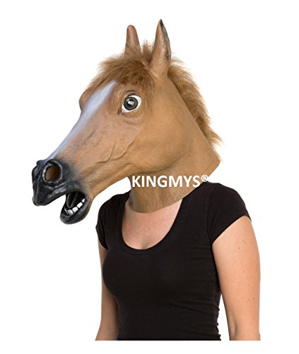 Kingmys KINGMYS Latex Horse Head Mask (Brown Horse Mask) (Horses Head Mask compare prices)