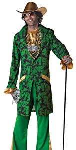 Men's XL Pimpin' Da Ho's 1970s Fancy Dress Adult Costume