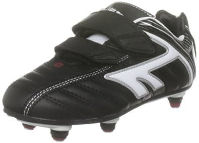Hi-Tec Junior Eos League Si Black/White/Red Sports Football Studs A001389/021/01 10 Child UK