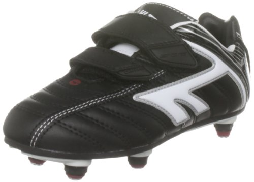 Hi-Tec Toddler Eos League Si Black/White/Red Sports Football Studs A001389/021/01 3 UK