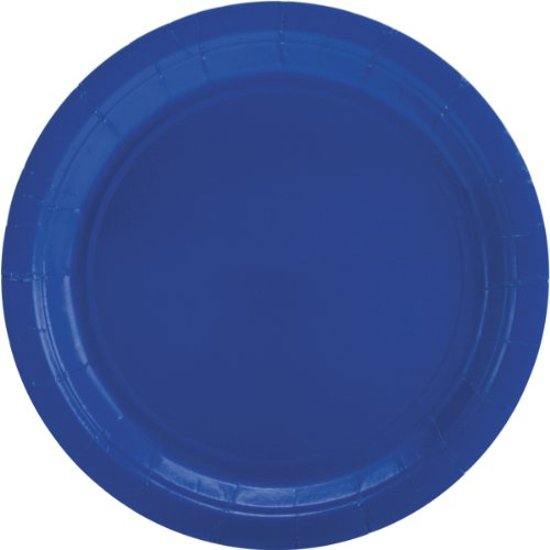 Royal Blue Paper Lunch Plate 50ct