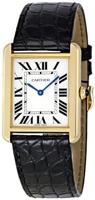 Cartier Women's W5200004 Tank Solo 18kt Yellow Gold Case Watch by Cartier