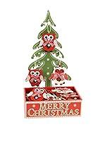 Decoracion Navideña Set Colgante decorativo 24 Uds. Árbol Navidad Búho