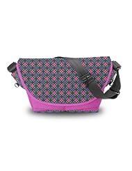 Atrangee Oriental Velvet Messenger Bag (Pink)