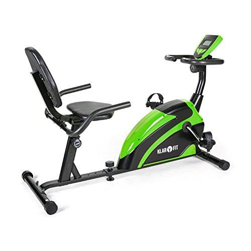 Klarfit Relaxbike 5G cyclette Recumbent Bike 100kg verde nera