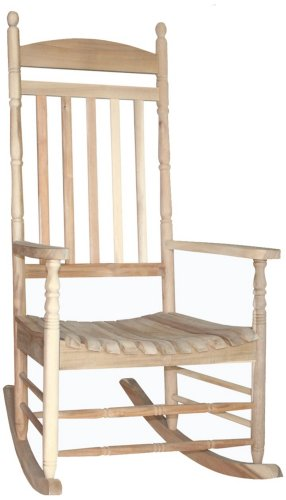 Porch Rocker Turned Post Unfinished Outdoor Rocking Chair front-1022337