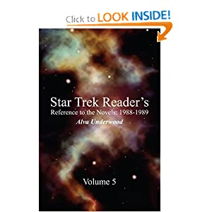 Star Trek Reader's Reference to the Novels: 1988-1989: Volume 5 by Alva Underwood