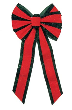12 x 26 Red & Green Velveteen 6 Loop Bow