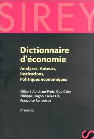Dictionnaire d'économie : Analyses