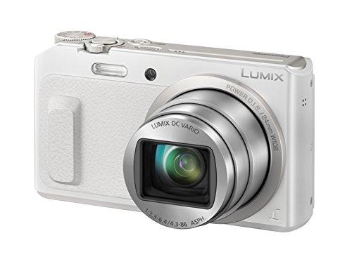Panasonic DMC-TZ58EG-W Lumix Kompaktkamera (16 Megapixel, 20-fach opt. Zoom, 7,6 cm (3 Zoll) LCD-Display, Full HD, WiFi, USB 2.0) weiß