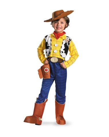 Disguise Limited Boys' Disney Toy Story Woody Deluxe Costume Multicoloured 3T To 4T front-854615