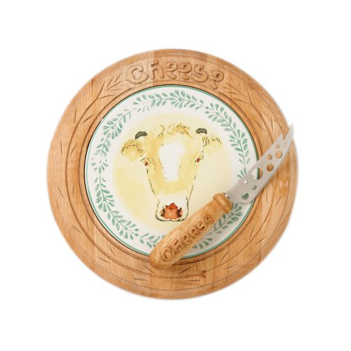 Buy Pfaltzgraff Circle of Kindness The Happy Cow 9 1/4-Inch Cheese Board with Knife