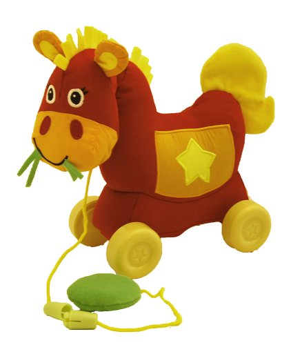 Giggle Toys Giddy Up Pull Toy, Western Red