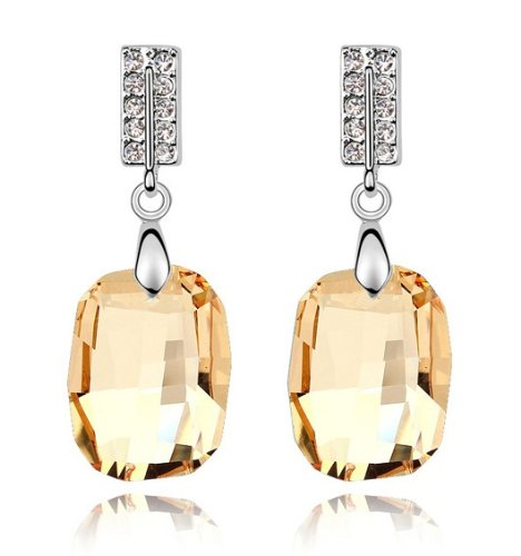 Purplelan-studded with Swarovski Element Crystal Stone Fashion Jewlery Dangle Earrings SE58890