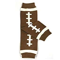 Bowbear Adorable Designs Baby Leg Warmers, Brown Football