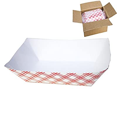Disposable Paper Food Tray for Carnivals, Fairs, Festivals, and Picnics. Holds Nachos, Fries, Hot Corn Dogs, and more! - 2.5-Pound, 50-Pack by Super Z Outlet®
