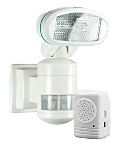 Smart+ Products Outdoor Robotic Halogen Motorized Motion Tracking Security Light & Alarm SPP30SLW