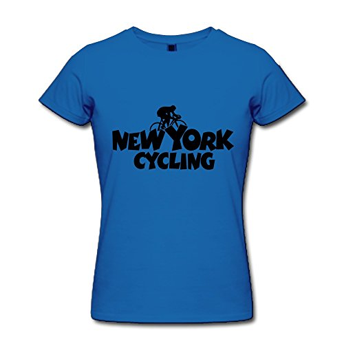 100% Cotton Witty New York Cycling Tees For Woman'S - Round Neck front-542730