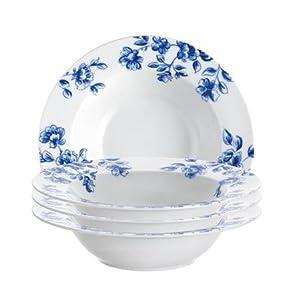 Paula Deen Signature Dinnerware Spring Prelude Soup Bowl Set, 4-Piece