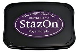 Tsukineko Full-Size StazOn Multi-Surface Inkpad, Royal Purple
