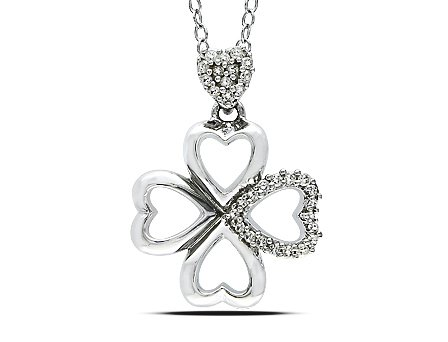 Sterling Silver 1/10 CT TDW Diamond Fashion Pendant With Chain (G-H, I3)