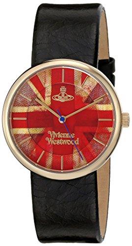 Vivienne Westwood - VV021UJBK - Montre Mixte - Quartz Analogique - Bracelet Cuir Noir
