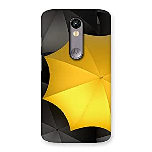 Impressive Black Yellow Umbrella Back Case Cover for Moto X Force
