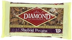 Diamond Shelled Pecans, 6-Ounce Bags (Pack of 4)