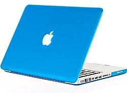Kuzy - 15-inch AQUA BLUE Rubberized Hard Case Cover for MacBook Pro 15.4 (Model A1286) Aluminum Unibody - Aqua