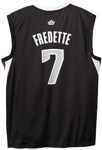 NBA Sacramento Kings Black Replica Jersey Jimmer Fredette #7 Kings by adidas