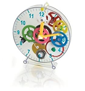 Fascinations Educational Products - AMAZING FIRST TIME CLOCK FOR KIDS BY FASCINATIONS- FIRSTTC1 - Promotes cognitive development.