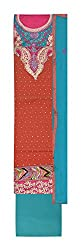 Gulmohar Women's Cotton Unstitched Dress Material (Red)