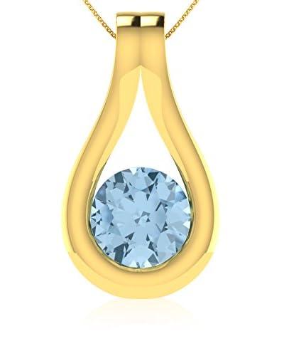 Art Of Diamond Collar Aquamarine Yellow Gold