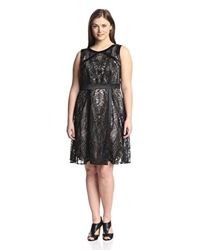 Julia Jordan Plus Women's Lace Fit-and-Flare Dress