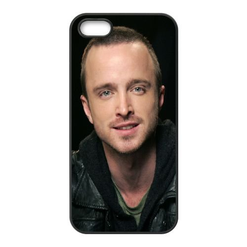 Aaron Paul Eyes Smile Face Actor Celebrity 70355 cover iPhone 5 5S caso cover di telefono cellulare della copertura della cassa del telefono cellulare nero EOKXLLNCD21293