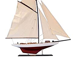 Handcrafted Nautical Decor Decorative Columbia Model Sailing Yacht 35