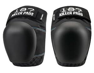 187 Killer Pro Derby Black Knee Pads - Made by 187 Killer Pads for Roller Derby... by 187 Killer