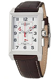 Locman Sport Stealth Rectangular Men's Quartz Watch 242WH2BR from Locman