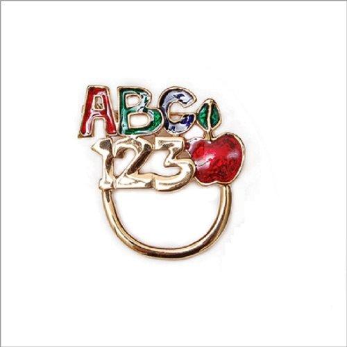 Fashion Trendy Abc&123 Brooch #011282