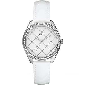 Guess - W60005L1 - Montre Femme - Quartz analogique - Cadran Blanc - Bracelet Blanc