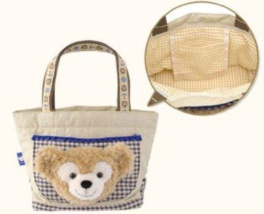 【東京ディズニーシー ダッフィー トートバッグ】 TDS Duffy Plush Face Tote Bag