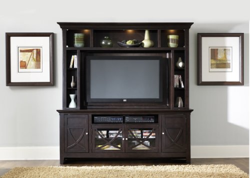 Cheap LIBERTY PIEDMONT ENTERTAINMENT CENTER TV STAND MOUNTABLE HUTCH DARK MOCHA NEW (955-ENT)