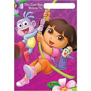 American Greetings Dora The Explorer Treat Bags Party Supplies (8 Count) - 1