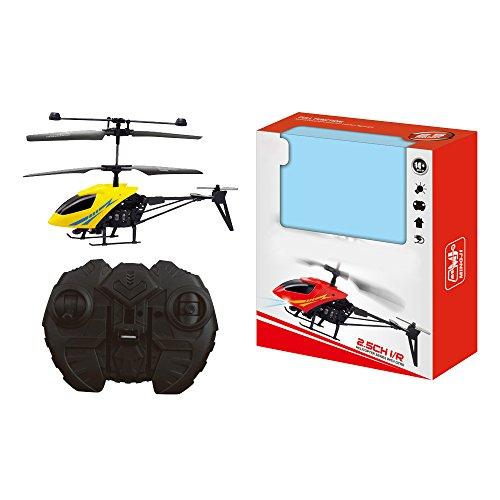 Eizur-RC-901-2CH-Mini-Hubschrauber-Infrarot-Fernbedienung-Helikopter-Flugzeuge-Micro-2-Funkkanal-Kinder-Spielzeug-mit-Elektro-LED-Nase-Gelb
