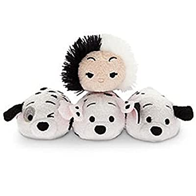 Disney 101 Dalmatians Tsum Tsum Mini Plush Cruella De Vil plus Rolly, Lucky, and Patch Dalmations for Sale
