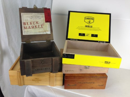 Premium Wooden Empty Cigar Boxes (5 Pack) 2