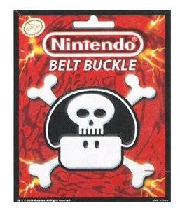 Cintura con fibbia, motivo: Nintendo, Super Mario Bros per 96-950-530 a forma di fungo