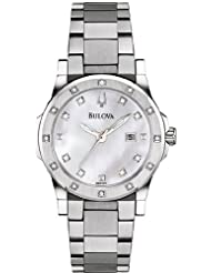 Bulova Women's 96R124 20 Diamond Mother of Pearl Dial Bracelet Watch